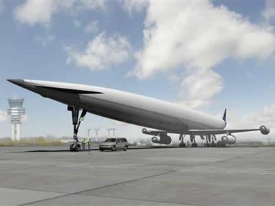マッハ5で欧州-豪州間を4時間36分で結ぶ極超音速旅客機「A2」のイメージ画像