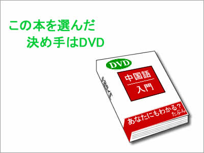 DVDつき中国語の本のイメージ