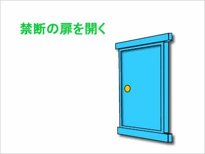 禁断の扉を開くイメージ画像