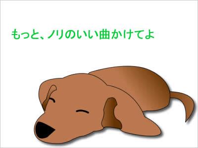 音楽を聴く犬のイメージ画像