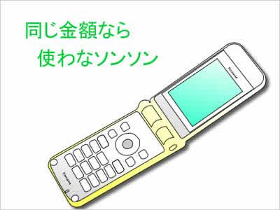携帯電話のパケット固定のイメージ画像