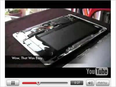 『MacBook Air』解体ビデオのイメージ画像