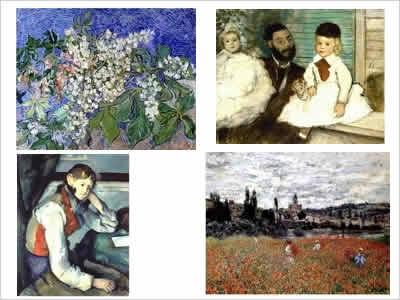 盗難された4点の絵画のイメージ画像