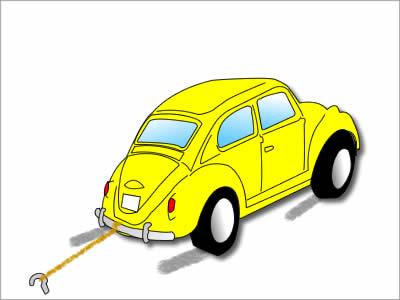 無駄な走りをしている車のイメージ画像