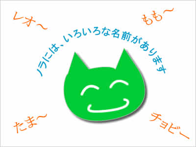 ネコの名前のイメージ画像
