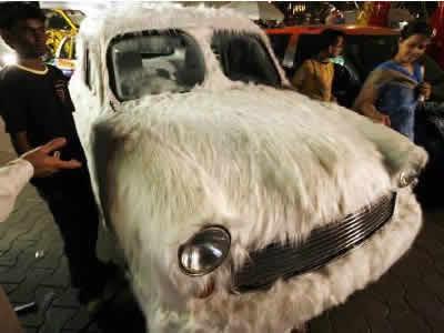 毛むくじゃらの車のイメージ画像
