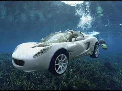 スイスのメーカーの潜水乗用車のイメージ画像