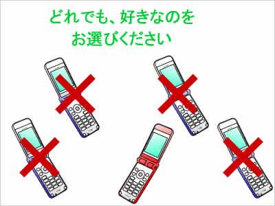 携帯電話の選択
