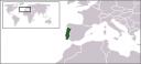 ポルトガル共和国の地図