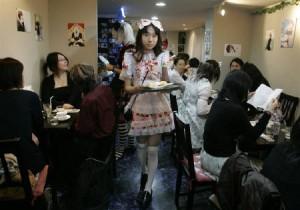 男性メイドが接客するカフェ