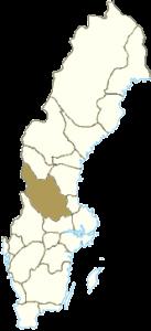 ダーラナ地方の位置