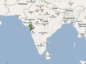 インドムンバイの位置