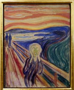 ノルウェーの画家エドバルド・ムンクの傑作「叫び」
